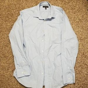 Light blue patterned banana republic dress shirt